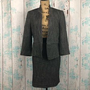 NWT Express gray skirt suit set size 12